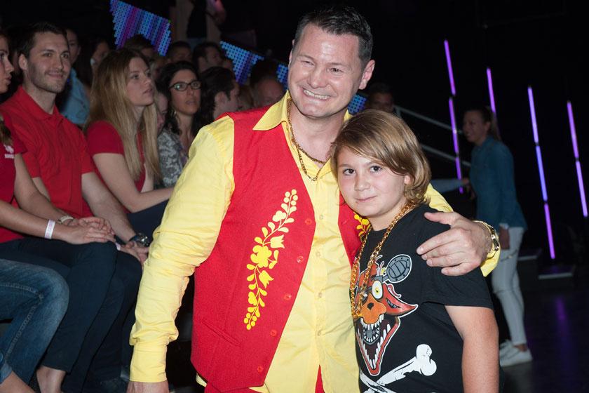Erdei Zsolt és fia, Viktor a 2017-es A Nagy Duett első adásában.