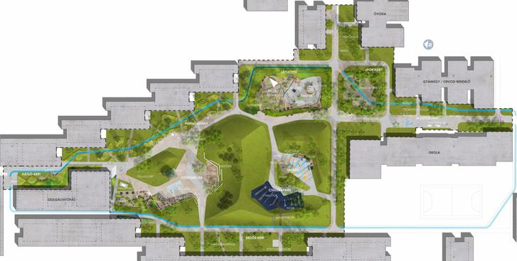 A Holdudvar park tervezett átalakítása