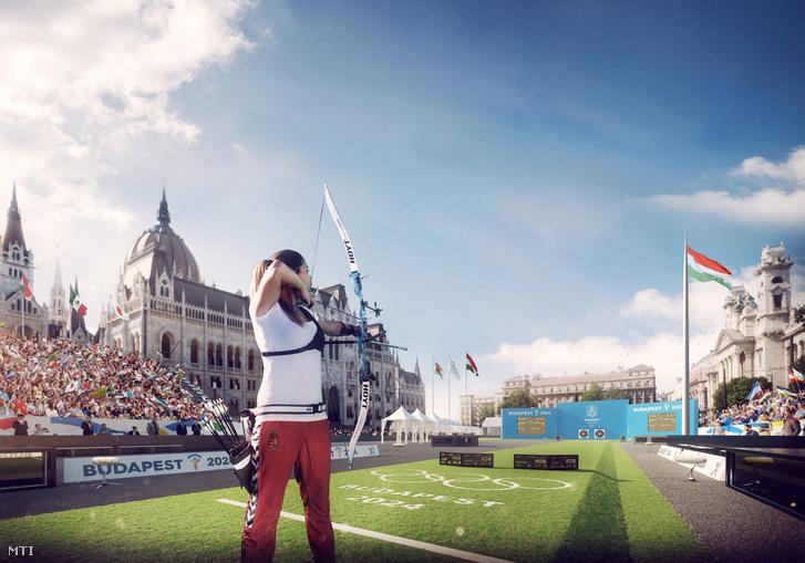 A 224-es budapesti olimpia egyik látványterve