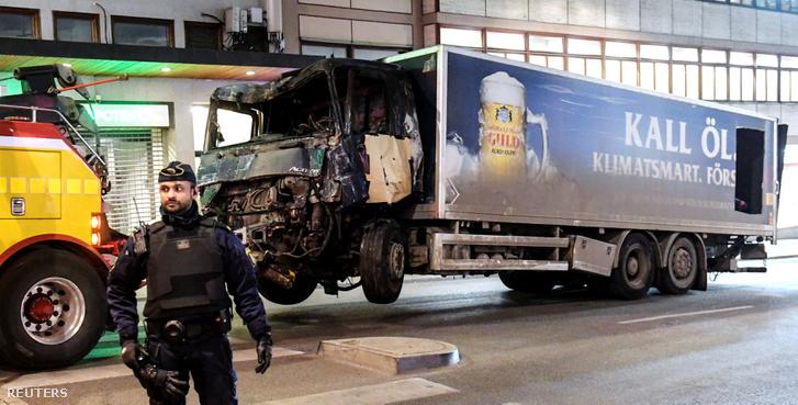 A támadáshoz használt teherautó