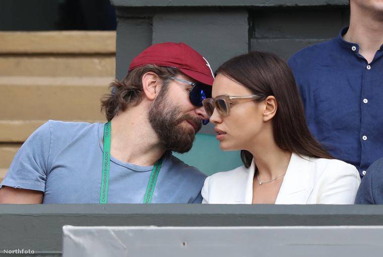 Bradley Cooper és Irina Shayk a 2016-os wimbledoni teniszbajnokságon.