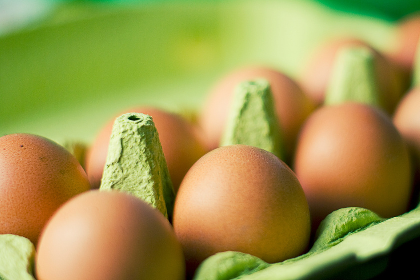 Csak tiszta és ép tojásokat vegyél meg