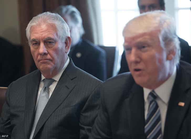 Rex Tillerson amerikai külügyminiszter és Donald Trump
