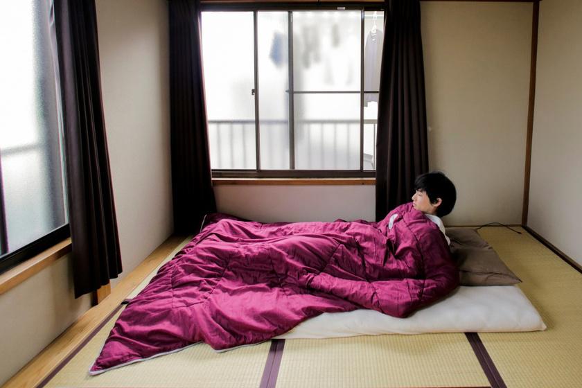 A japán otthon egyszerű, tágas terek és élettér jellemzi. Gyakori, hogy az ágyat matrac szolgálja.