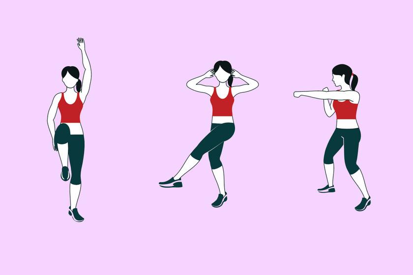A térd felhúzás egyszerre serkenti a keringést és a bélmozgást. Először az egyik, majd a másik térdedet húzd gyengéden a mellkasod felé tíz másodpercig, majd váltogasd a lábaidat összesen egy percig.