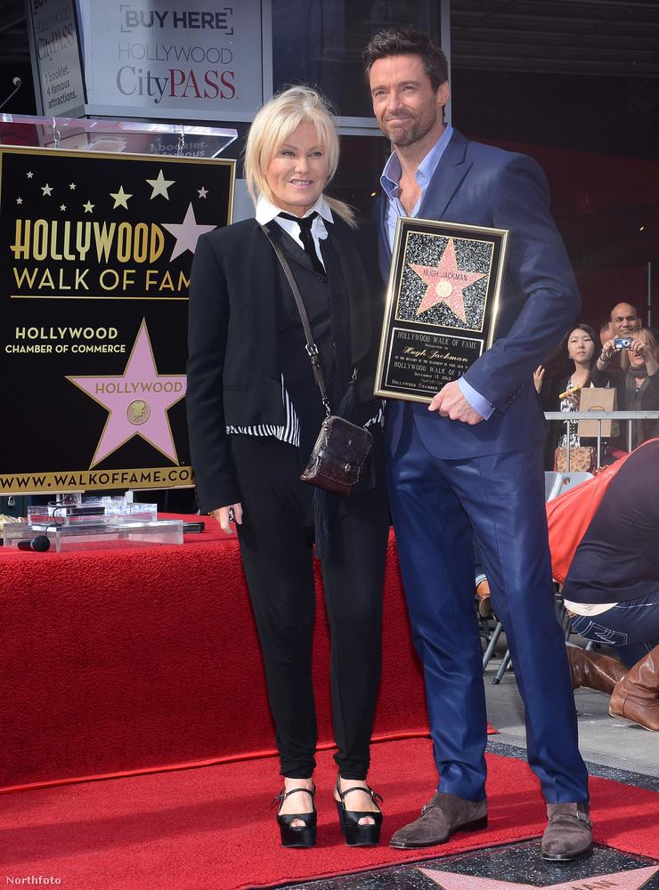 Jackman szinte mindenhol a feleségével jelenik meg, legyen az egy csillag átvétele Hollywoodi hírességek sétányán...