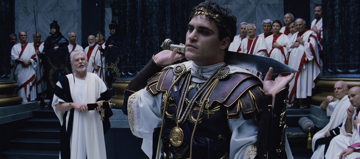 Joaquin Phoenix mint Commodus császár a Gladiátor című filmben