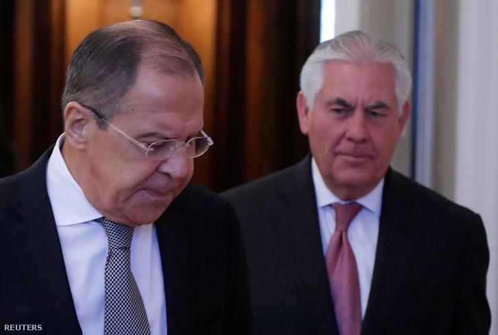 Lavrov és Rex Tillerson