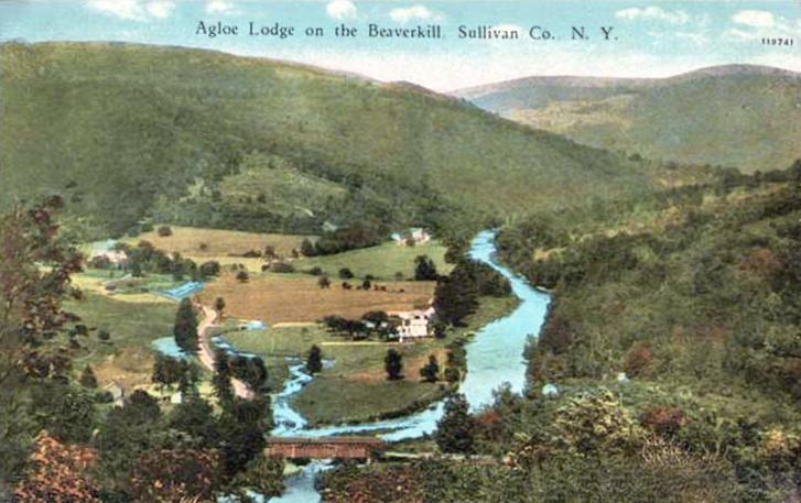 Agloe egy régi képeslapon