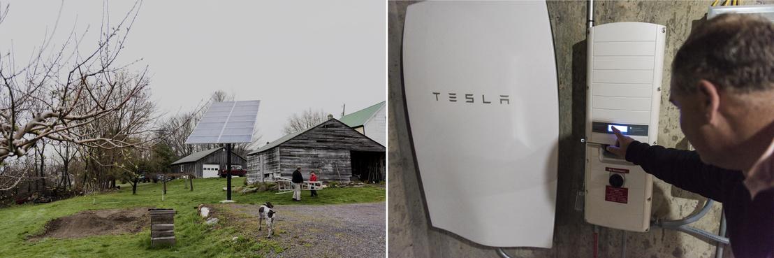 A Tesla Powerwall elnevezésű, háztartási felhasználásra tervezett napelemes akkumlátor rendszere az amerikai Monkton egyik lakóházában