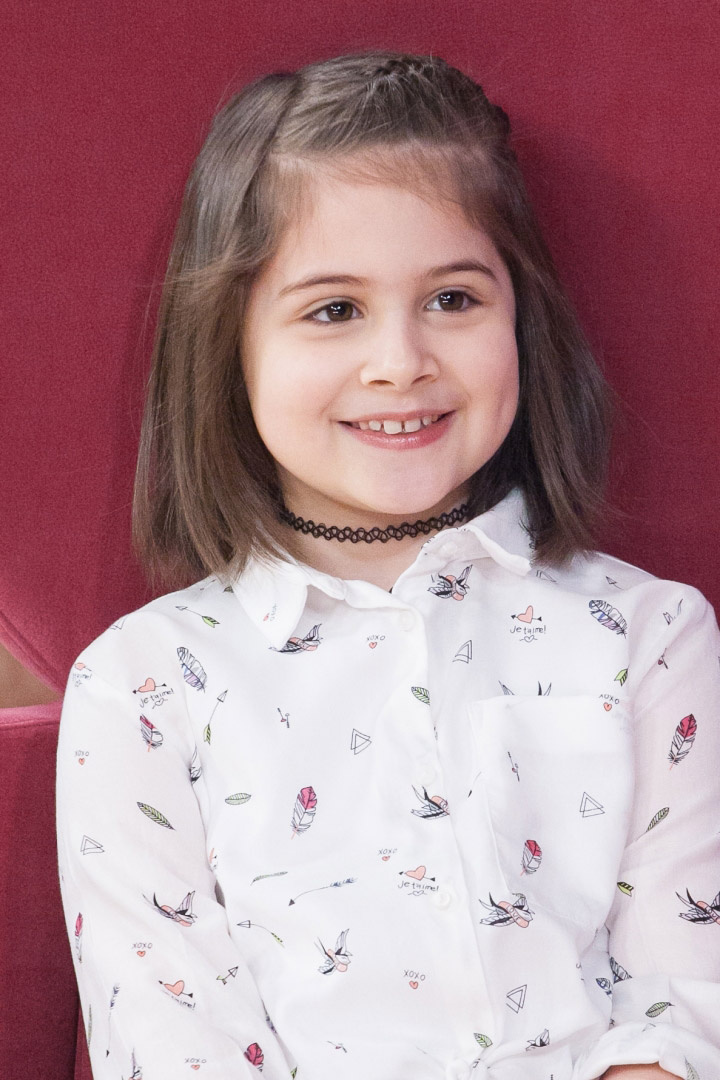 Ábel Anita lánya, Luca már nyolc és fél éves.