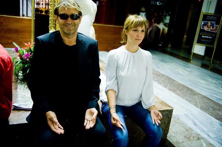 Cserhalmi György lányával, Cserhalmi Sára filmrendezővel