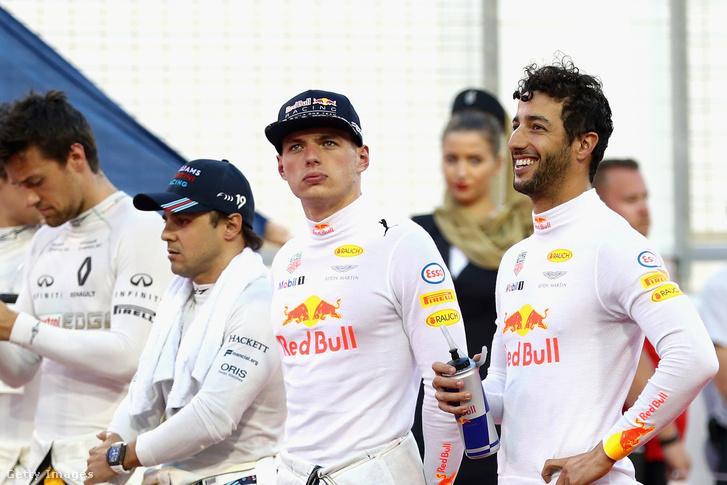 Massa és Verstappen épp egymás mellett Bahreinben