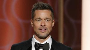 Brad Pitt alkata ingben különösen nyüzügének tűnik