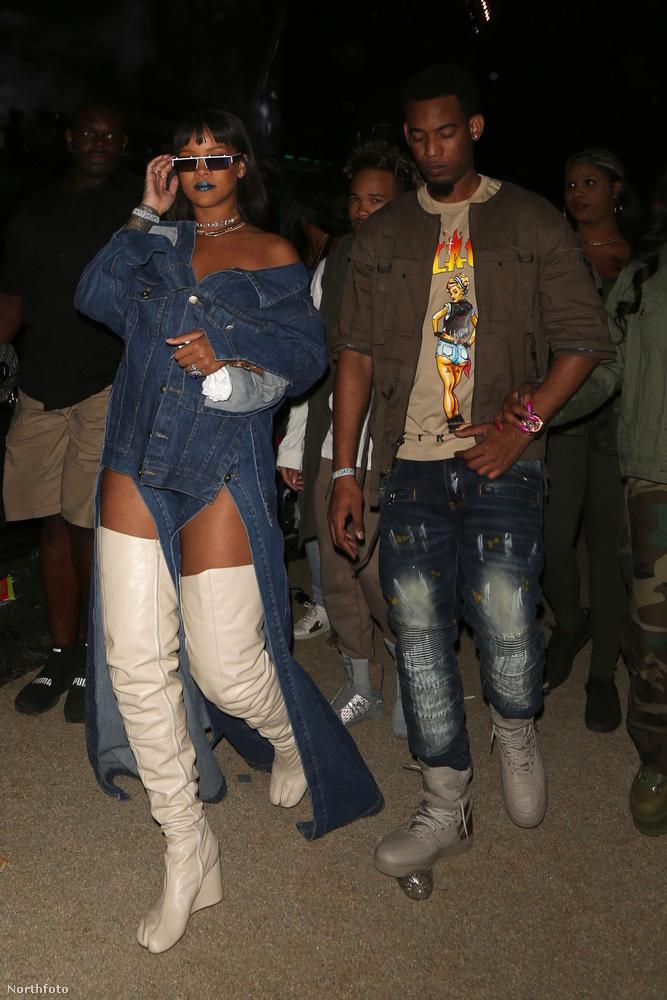 Persze Rihanna is ott volt, combcsizmában