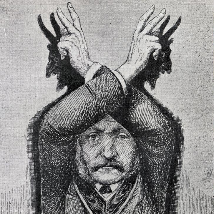 Ördögimádás illusztráció Eugen Lennhoff, A szabadkőműves című, 1932-ben publikált könyvéből
