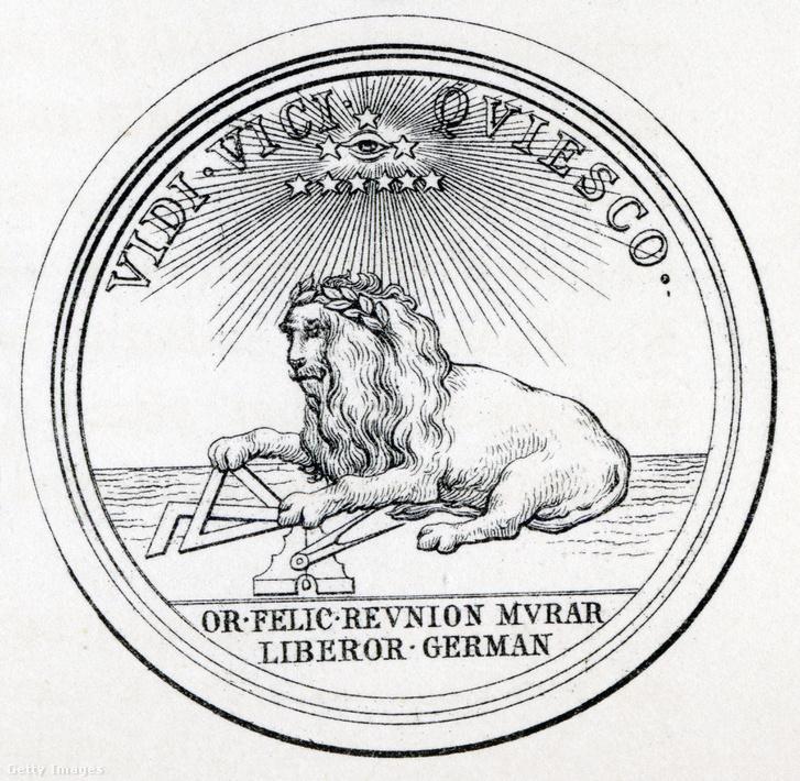 Szabadkőműves szimbólum illusztráció Thomas C. Jack, A szabadkőművesség története című könyvéből
