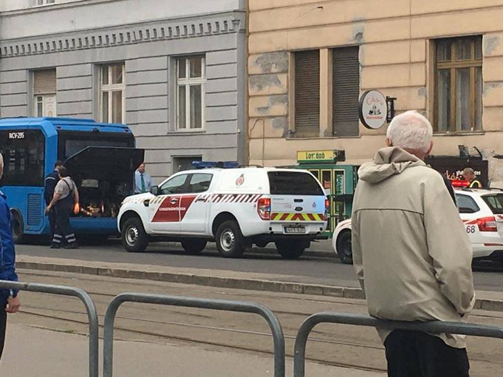Az első esetnél nem szenvedett nagy károkat a busz. Másnap már újra forgalomba állt (olvasói fotó)