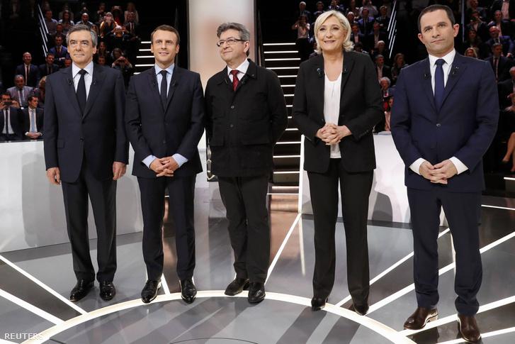 Francia elnökjelöltek tévévitája
