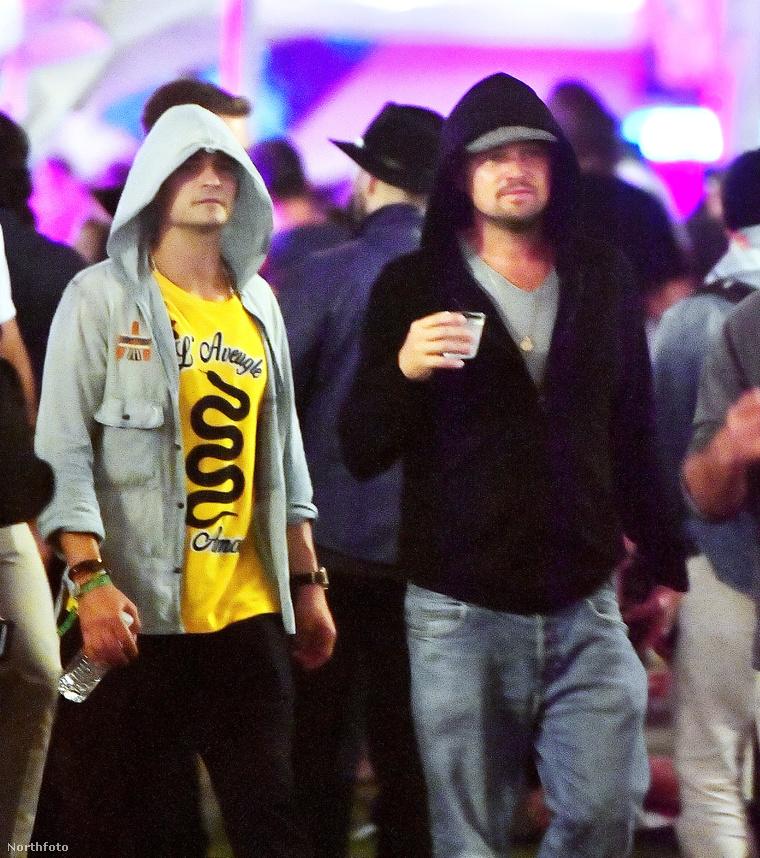 Orlando Bloom és Leonardo DiCaprio a 2017-es Coachellán.