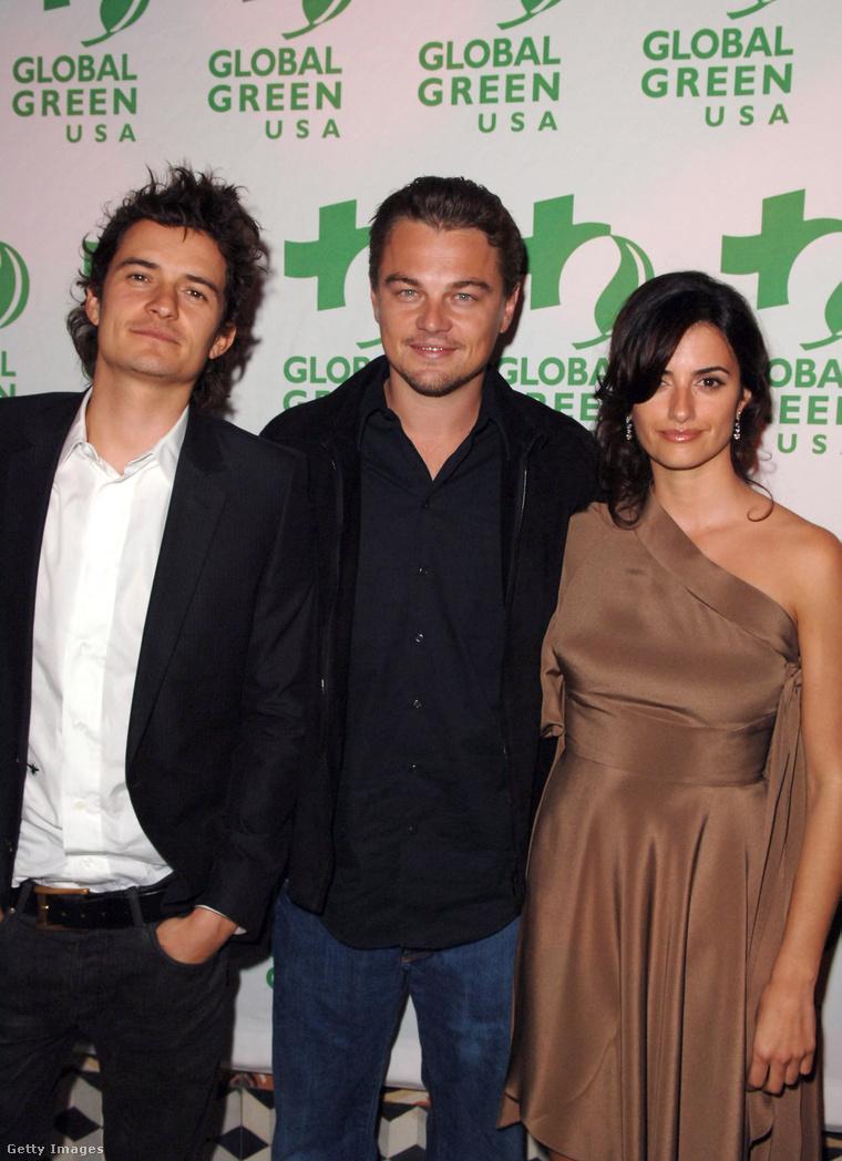 Orlando Bloom, Leonardo DiCaprio és Penelopé Cruz.