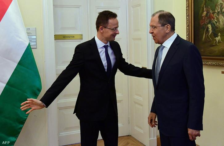 Szijjártó Péter és Szergej Lavrov 2016 májusában
