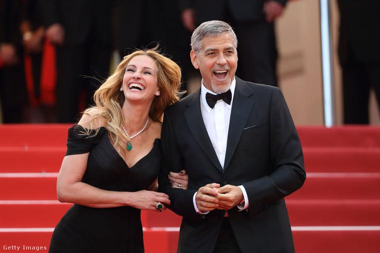 Rajta kívül George Clooney-val is imádják egymást, aki még fekete hajjal ismerte meg őt, de aztán jól megőszült