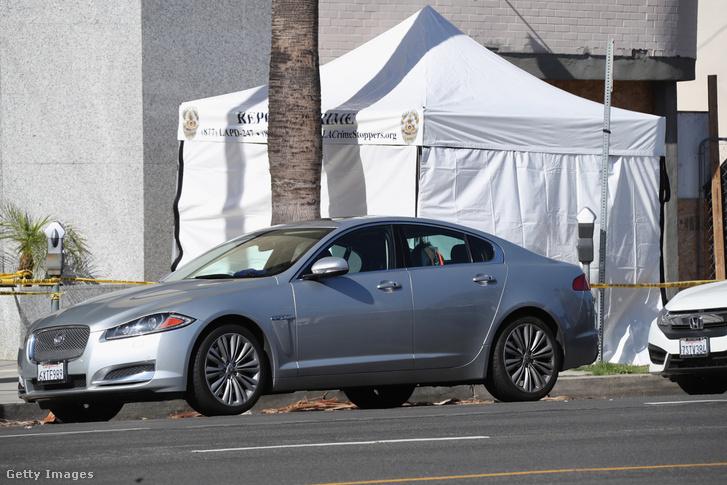 Az autó, amiben holtan találták az idősebb Goodingot