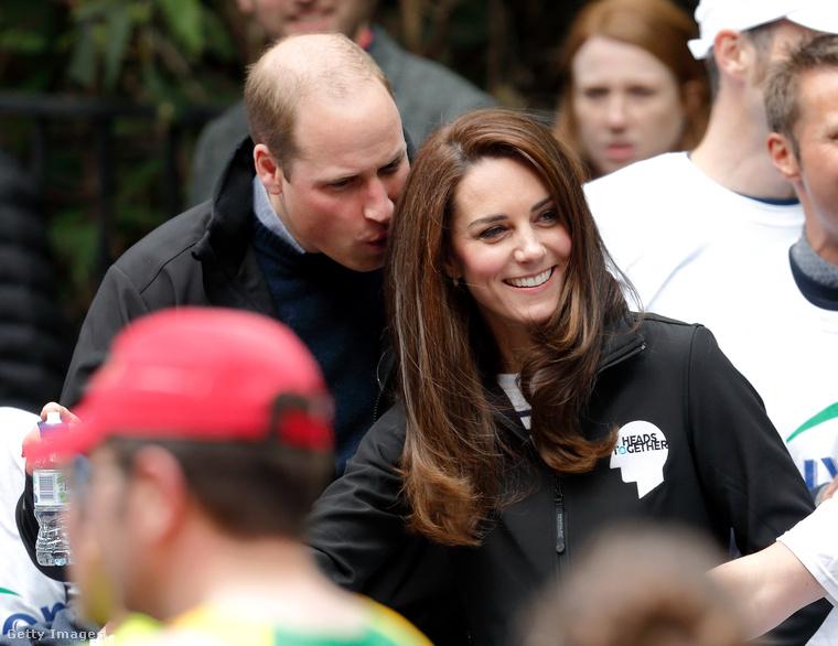 katalin hercegné és Vilmos herceg elmentek a Virgin Money London Marathonra, ami egy jótékonysági futóverseny.