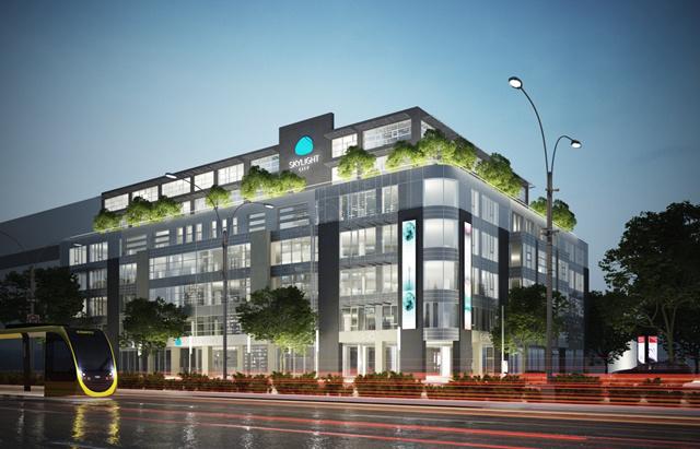 Ilyen lesz az irodaházzá alakított épület