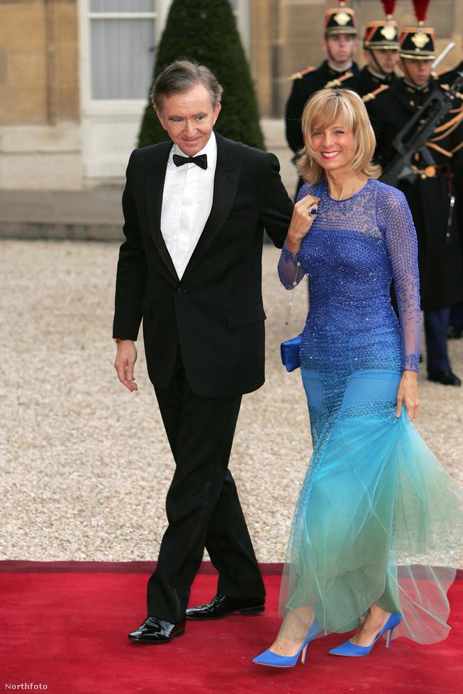 Ők pedig itt Bernard Arnault és Hélène Mercier