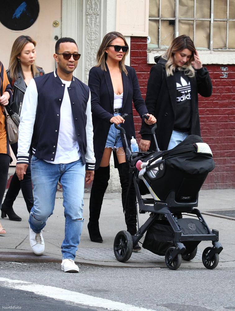 A modell és a zenész John Legend első gyereke, Luna Simone Stephens még csak április 14-én lett egy éves