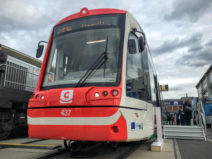 A Stadler CityLink Hybrid Tramtrain