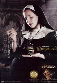 terhes apáca reklám