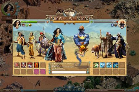 A Nadirim grafikájáról nem mondaná meg az ember elsőre, hogy böngészős játék