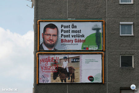 Bihary Gábor óriásplakáton