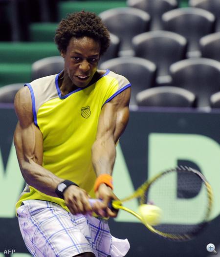 A héten Monfils a Davis Kupa játszmáira edzett