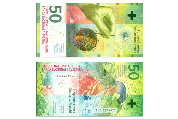 A svájci 50 frankos