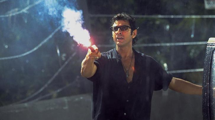 Jeff Goldblum a Jurassic Parkban