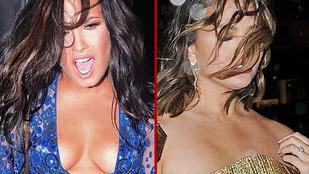 Chrissy Teigen és Demi Lovato ruháját le akarta tépni a vihar