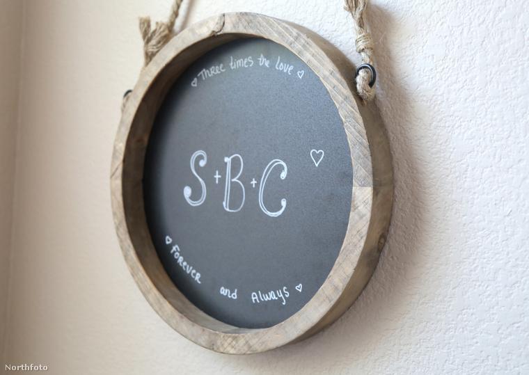Otthonukban már hármójuk keresztnevének kezdőbetűje szerepel a kifüggesztett táblán.
