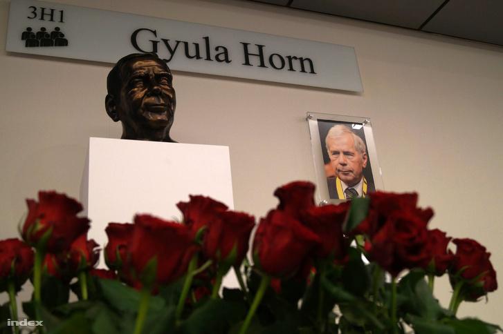 Horn Gyula emlékhelye Brüsszelben.