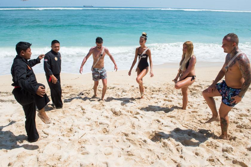 A négy fiatalt a capoeira rejtelmeibe is bevezették.