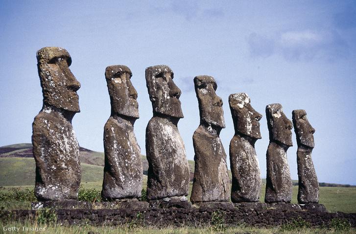 A Húsvét-sziget, híres szobraival