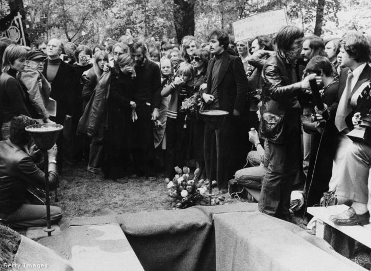 Ulrike Meinhof temetése.