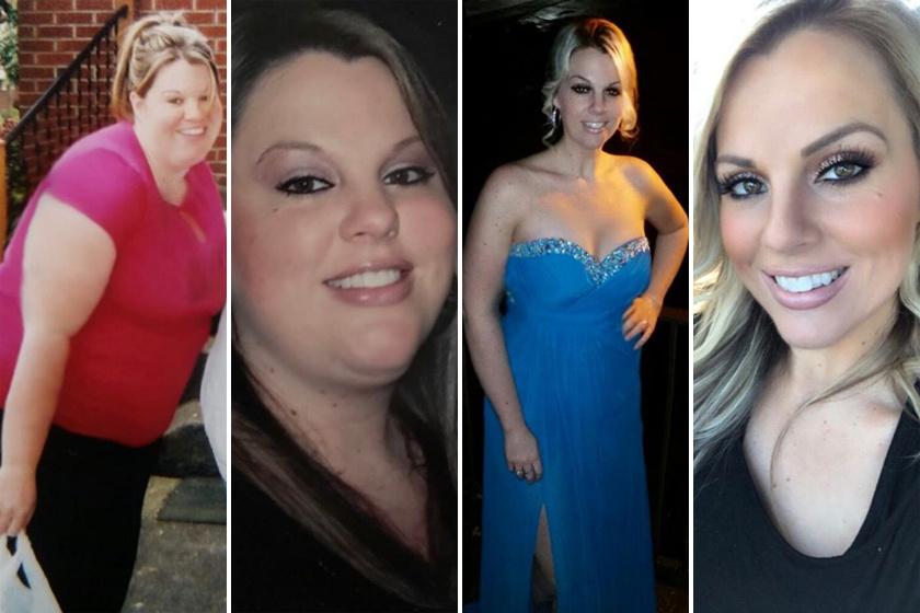 Mandy 35 éves, profi sminkes. Napi 600 kalóriát égető edzőtermi mozgással és kontrollált kalóriabevitellel 57 kilót fogyott.