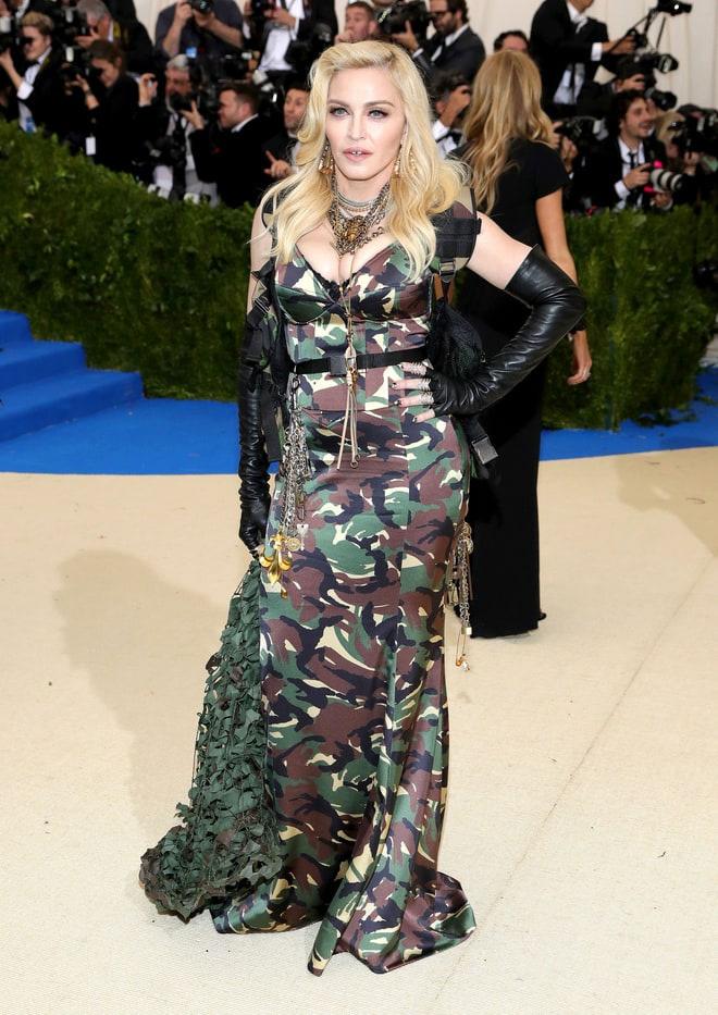 Mintha Madonna csatába indult volna, nem a vörös szőnyegre.