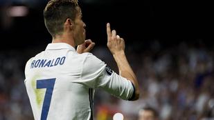 Ronaldo a szurkolókat kérlelte a harmadik gólja után