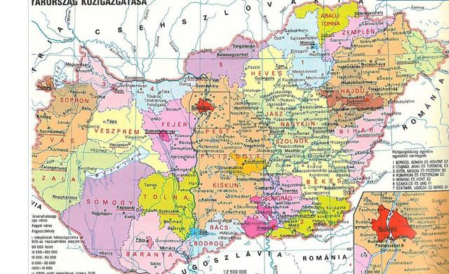 A magyar megyerendszer 1923 és 1938 között