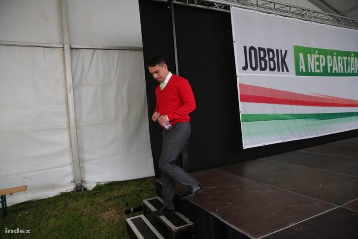Vona Gábor a Jobbik majálisán, 2017. május 1-én